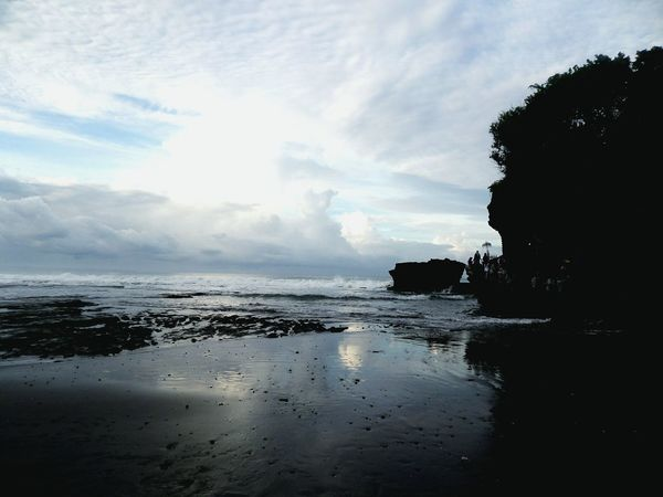 Sea And Sky Beach Tanah Lot Bali INDONESIA Morning