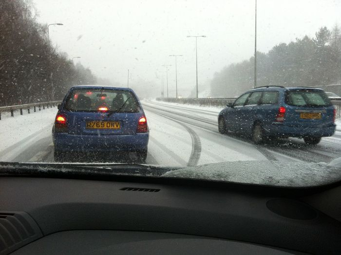 Snow A23 North Bound Pease Pottage