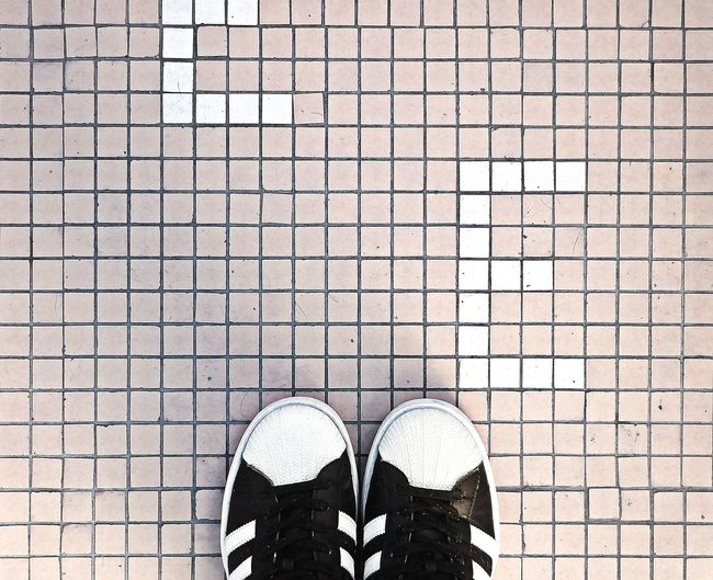 Plus degrees means sneakers again 👣 Tile Tiled Floor Pattern Textured  Directly Above Looking Down Shoes Sneakers Fashion Minimalism Minimal Abstract Rosé Aerial View Still Life Check This Out Close-up Streetphotography Streetphoto_color Urbanphotography Cityscape Wanderlust Scenics Standing VSCO Snapshot EyeEm Selects Eye4photography  Pastel Colored Lifestyles