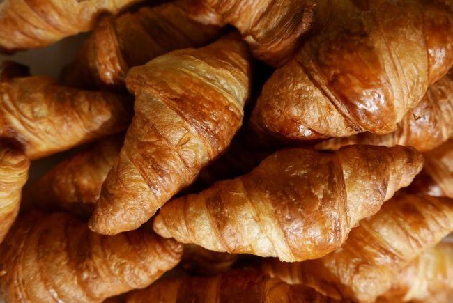 French croissants Viennoiserie Pastries France Breakfast Restaurant At The Hotel The Foodie - 2015 EyeEm Awards Morning Having Breakfast Croissants