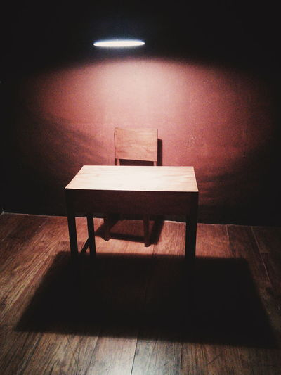 Absence Chair Furniture Home Interior Indoors  Interogation Room Marcos Old-fashioned Still Life Table Wood Wooden