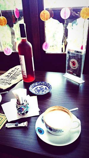 Pomegranate wine 🍷 Capuccino şirinceturkey Pomegranate Wine Table Indoors  Coffee Cup Coffee - Drink Drink