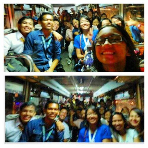 Pinaghirapan naming makasakay sa bus na 'to. Kaya deserve naming magkaroon ng bus selfie! :)) SelfieKasamaAngLahatNgTaoSaBus Thisishowweroll