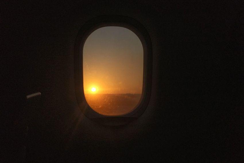 Sky Nature Airplane Window Sunset