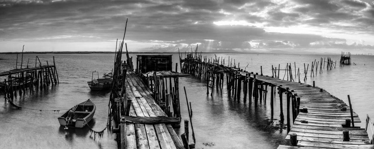 Architecture Beach Cloud - Sky Day Horizon Horizon Over Water Jetty Mode Of Transportation Nature Nautical Vessel No People Outdoors Pier Post Scenics - Nature Sea Sky Tranquil Scene Tranquility Transportation Water Wood - Material Wooden Post
