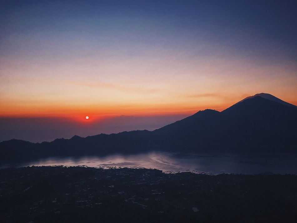 Sunrise on the top of Batur Batur Batur Mountain View Sunrise Sky Scenics - Nature Beauty In Nature Tranquil Scene Tranquility Mountain
