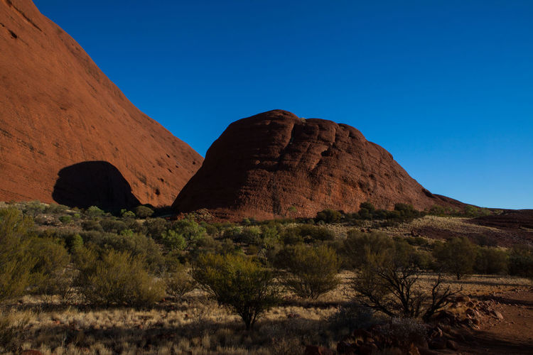 What do you see? Australia Kata Tjuta National Park Arid Climate Beauty In Nature Blue Clear Sky Desert Environment Formation Mountain Olgas Red Rocks  Rock Rock - Object Rock Formation Sky Tranquil Scene Tranquility Turtle The Great Outdoors - 2019 EyeEm Awards
