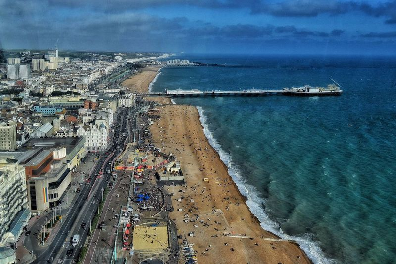 A picture of Brighton seafront, taken 500 feet up on the British Airways i360, the new vertical cable car ride which opened last week. An interesting concept, spoiled by the hugely reflective glass on the pod, making photography very difficult. Still worth doing if you aren't afraid of heights. Taking Photos Brighton Brighton Beach Seaside Malephotographerofthemonth Photography Is My Escape From Reality! Viewing Platform I360 I360 Tower British Airways British Airways I360