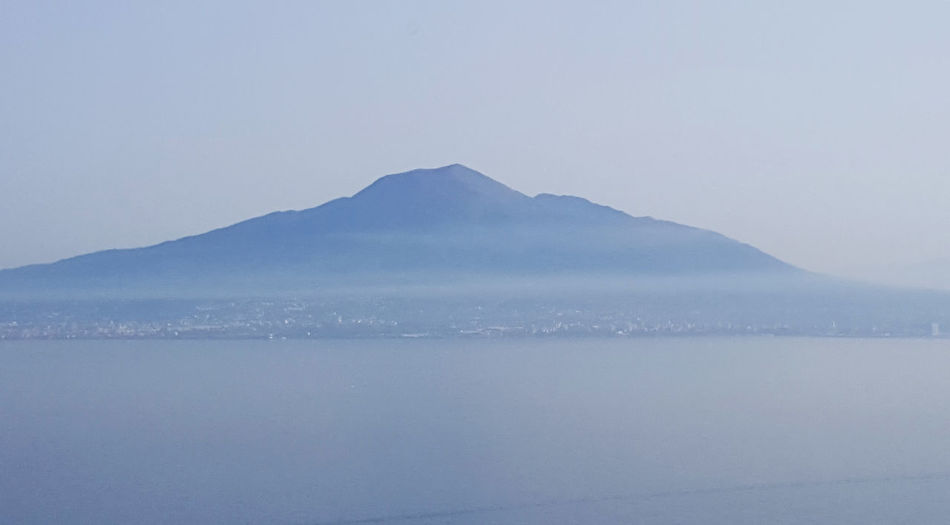Beauty In Nature Clear Sky Day Mountain Nature No People Outdoors Scenics Sea Sky Tranquil Scene Tranquility Vesuvius  Volcano Water