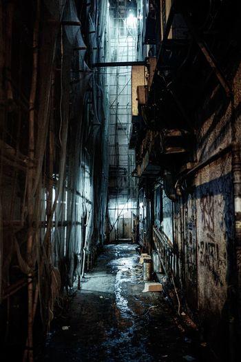 Dark hong kong alley