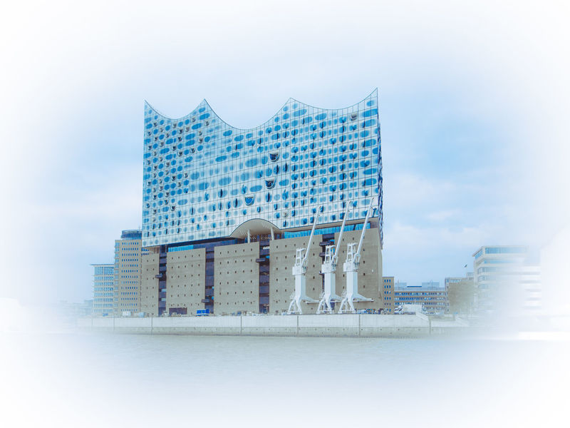 Elbphilharmonie - to be opened soon Architecture Barge Blue Built Structure City City Life Cranes Elbe Elbe River Elbphilharmonie From The Sea Historic Modern Operahouse Opéra Port Waterfront