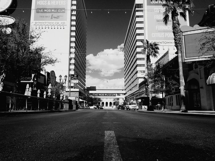 road to perdition City Sky Architecture Building Exterior Built Structure Billboard Digital Signage Empty Road Office Building Modern Art The Way Forward Diminishing Perspective Tall - High High Rise