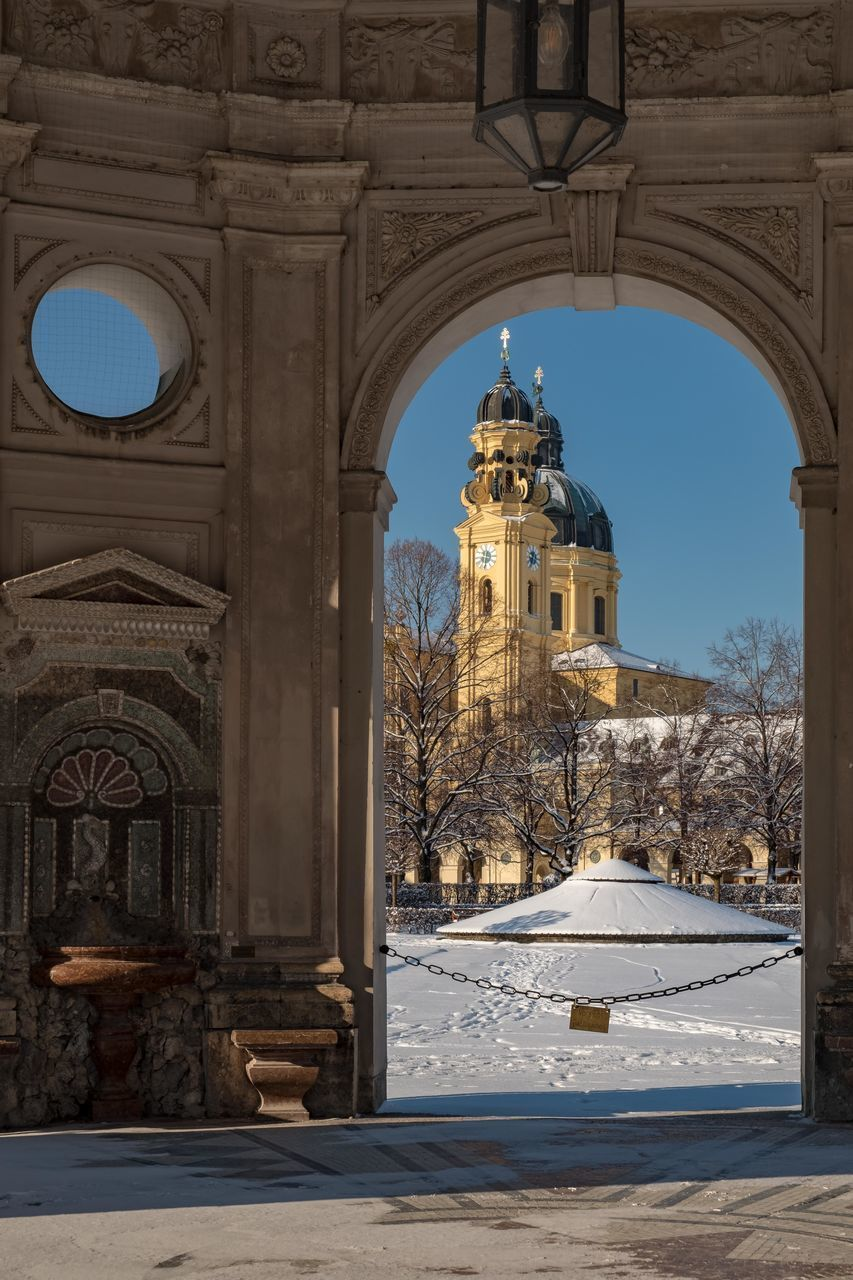 VIEW OF HISTORICAL BUILDING DURING WINTER