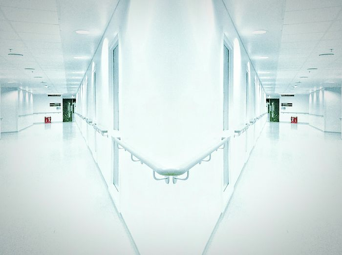 The Way Forward Architecture Indoors  Business Finance And Industry Mirrored Abstract Abstract Photography Window White Wall Railing Clean Clinical Fire Escape Corridor Hallway Pristine