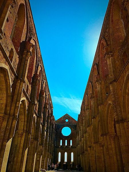 Travel Destinations Building Exterior Architecture Built Structure Low Angle View History Day Outdoors Blue No People Clear Sky Sky Architecture