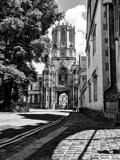 Oxford University Building Exterior Architecture Built Structure Building Sunlight City Nature Shadow Day Sky Street Outdoors Tree No People Religion Residential District Plant Cloud - Sky Place Of Worship The Way Forward