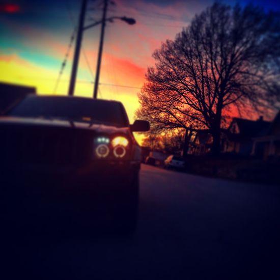Jeep Grandcherokee  Wintertime 2015winterdays Sunset