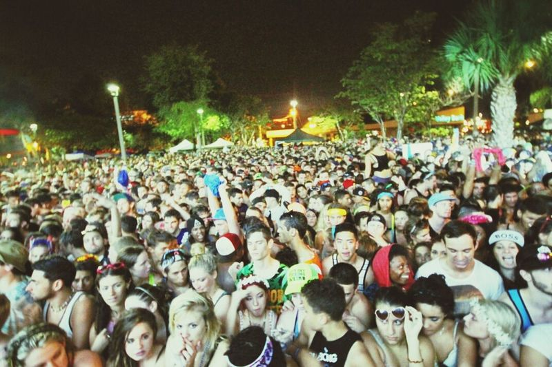 The crowd at the Mad Decent Block Party in Ft. Lauderdale, Florida. Majorlazer Diplo  Maddecent