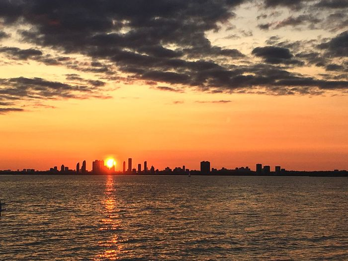 Sunset from Hanlan's Toronto Islands City Toronto Canada Travel Destinations Travel View Views Clouds Fall EyeEmNewHere Toronto Great Lakes Lake Ontario Lake View Lakeview Sky Sunset Cloud - Sky Water Orange Color Architecture City Waterfront Nature Urban Skyline Sea