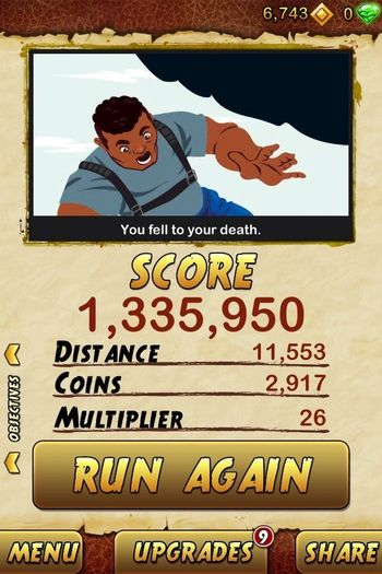 My Temple Run 2 Score