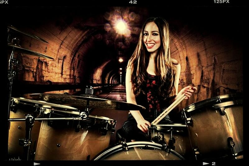 meet the awesome sexy drummer maiden.! Meytal Cohen!:* Drummer!! DOPE Metalhead .heavy metal rainy morning everyone.