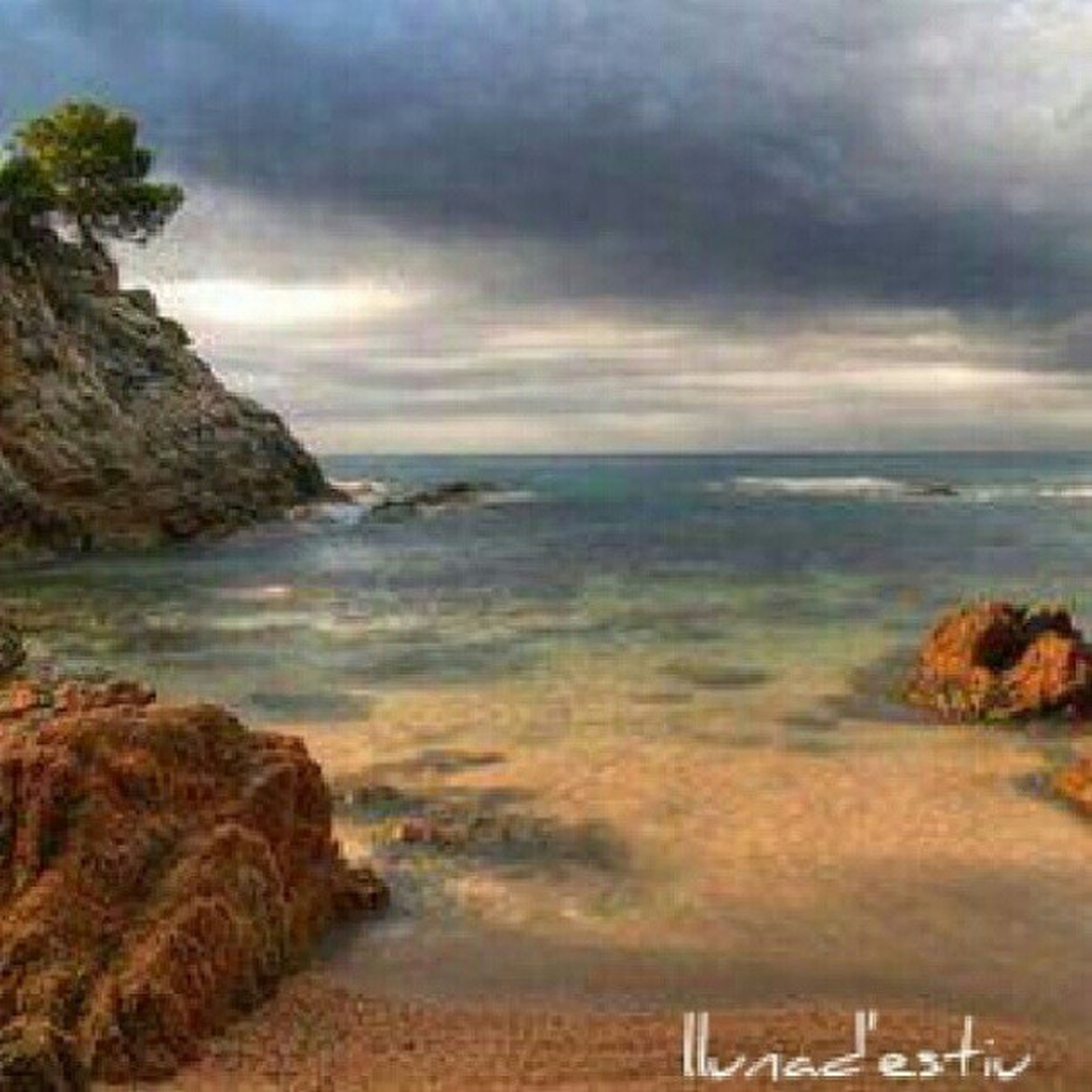 sea, water, sky, horizon over water, beach, tranquil scene, cloud - sky, scenics, tranquility, beauty in nature, cloudy, shore, nature, overcast, idyllic, weather, cloud, coastline, sand, rock - object