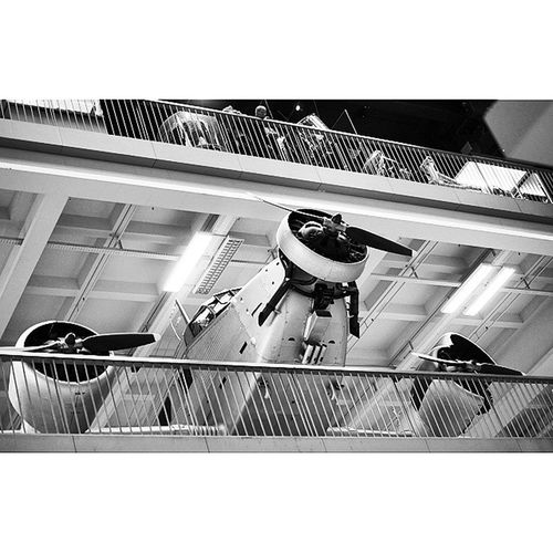 Old Airplane at the Aeronautics and Aviation exhibition at the DeutchesMuseum museum. Taken by MY SonyAlpha Dslr A57 . münchen Munich bayarn Bavaria Germany Deutschland. متحف قسم طيران طائرات ملاحة ميونخ المانيا بافاريا
