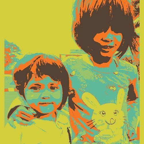 My girls Pop Art Little Girl Sweet Siblings❤️ Sister❤ Lovely Kid