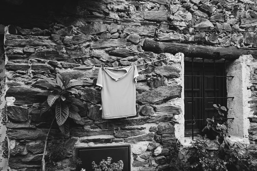 Monochrome Photography Stone Wall Outdoors No People Obsolete Wall - Building Feature The Street Photographer - 2017 EyeEm Awards