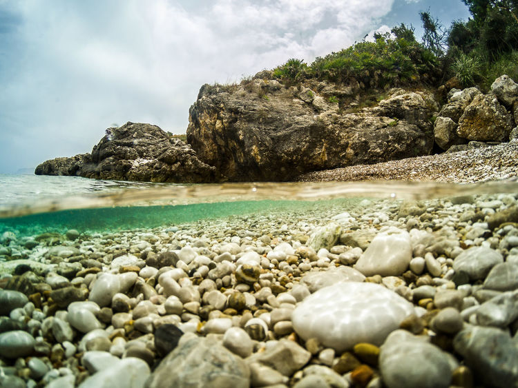 Landscape Landscape_Collection Colors Summer Landscape_photography Summer Exploratorium Water Sea UnderSea Beach Sea Life Pebble Rock - Object Sand Sky Seascape Underwater Floating In Water Ocean Floor Coast