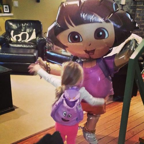 She's having an amazing Valentine's Day, if you can't guess. Hugedora Balloon Backpack Fullofcandy shesinheaven
