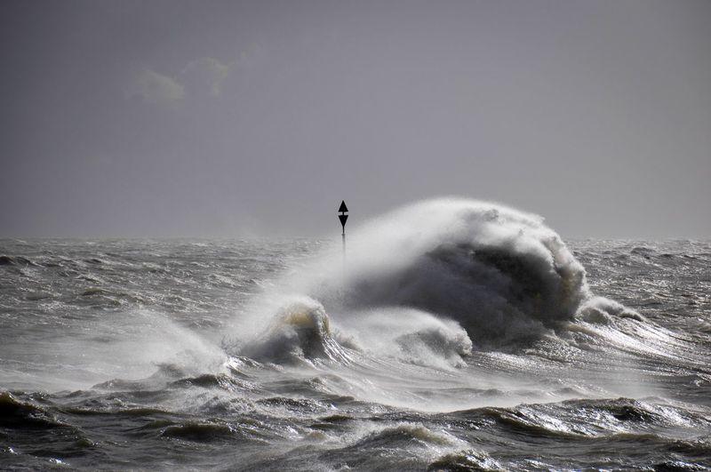 Ocean Tempête En Bretagne Tempête