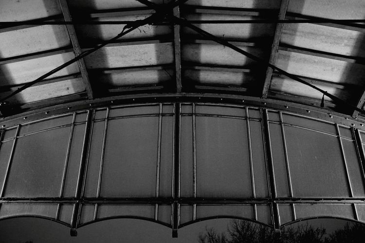 Exit Train Station Railwaystation Canopy Blackandwhite Black And White