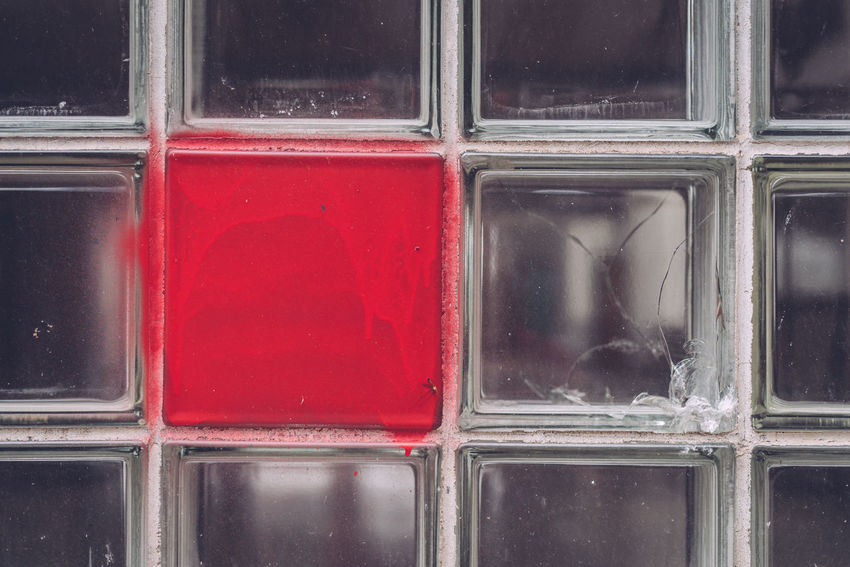 Backgrounds Close-up Container Day Design Full Frame Geometric Shape Glass Glass - Material No People Outdoors Pattern Red Reflection Shape Square Shape Textured  Transparent Window Window Frame