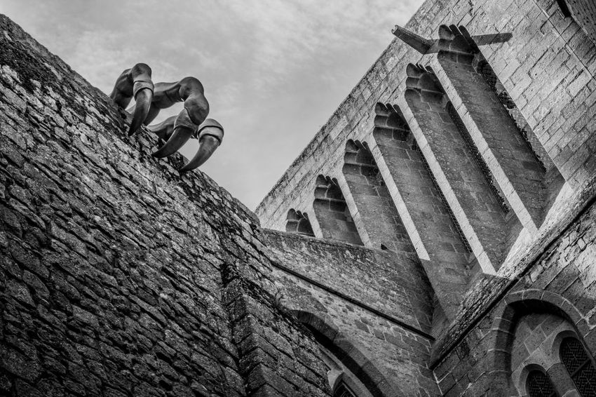 Saint Michael's Mount Black And White Collection  Black And White Photography Black And White Medieval Craw Low Angle View Built Structure Architecture Building Exterior Day Outdoors Sky