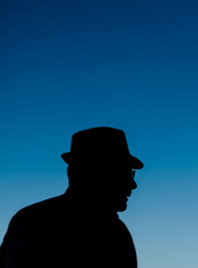 Fedora  Ronda Spain Silhouette The Street Photographer - 2018 EyeEm Awards Blue Clear Sky Contemplation Copy Space Hat Headshot Leisure Activity Lifestyles Men Nature One Person Outdoors Portrait Profile View Real People Side View Silhouette Sky Standing Young Adult Young Men