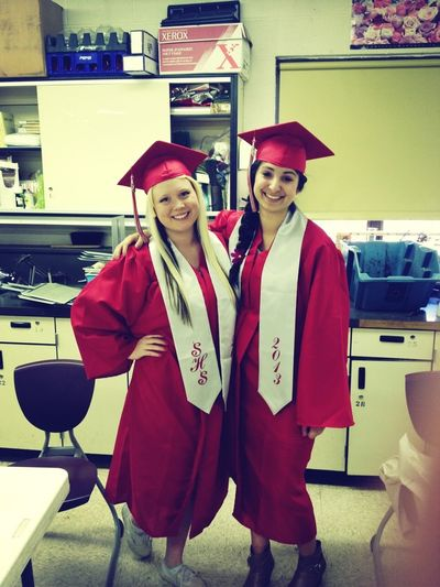 So excited to graduate that we kinda put on our gowns!!!! Gosh graduation is just 24 more short school days away!!!