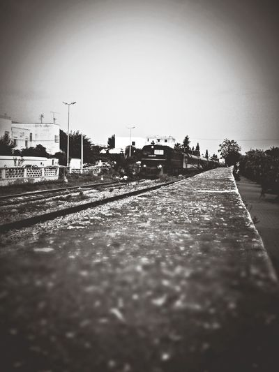 Train Perspectives Railway Blackandwhite