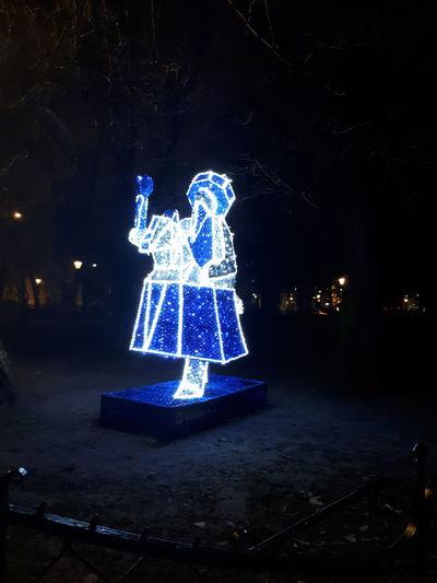 Noche Lajkonik Krakow Polska Noite Noc Nuit Nacht Weinachten święta  Noc Notte Christmas Tree Celebration Christmas Ornament Night