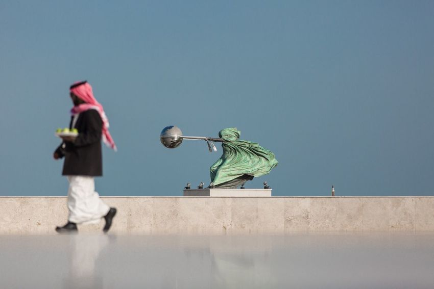 Real People Sky Standing Low Angle View Day Outdoors Katara Cultural Village Doha,Qatar Fruits Reflection