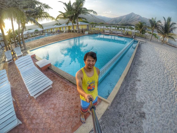good morning capones Go Pro Hero 4 Go Pro Photography That's Me Morning Sky Poolside Self Portrait
