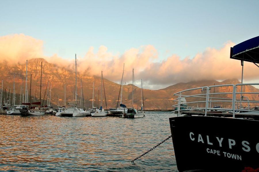 Beauty In Nature Boat Bosts Cape Town Boa Cloud Cloud - Sky Harbor Mast Mode Of Transport Moored Mountain Mountains Nature Nautical Vessel River Sailboat Scenics Sea Sea And Sky Sky Sunset Transportation Water Waterfront