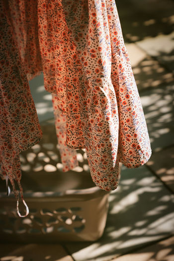 View of clothes hanging outdoors