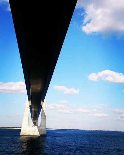 Architecture Beauty In Nature Bridge Bridge - Man Made Structure Built Structure Cloud - Sky Connection Day Horizon Over Water Long Low Angle View Nature No People Outdoors Scenics - Nature Sea Sky Storebeltsbroen Transportation Underneath Water Waterfront EyeEmNewHere A New Beginning