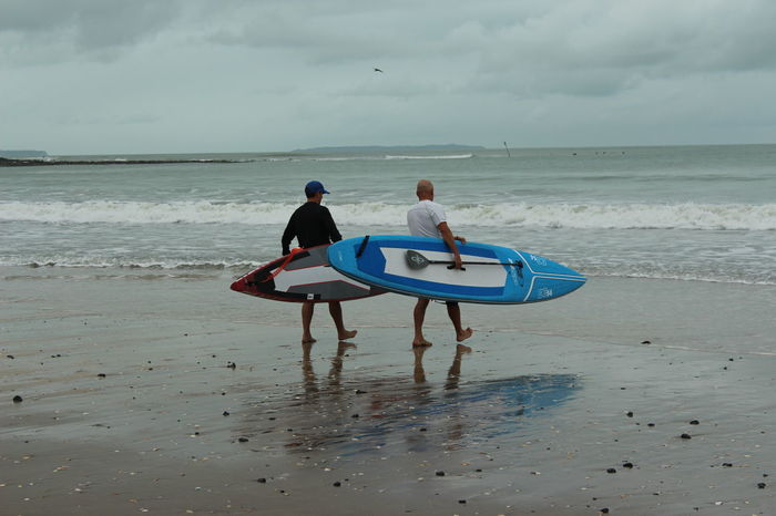 Going to face the unkown Adult Adults Only Beach Canon Day Enter Full Length Horizon Over Water Men New Zealand Only Men Outdoors People Playing Sand Sea Surf Togetherness Two People Water