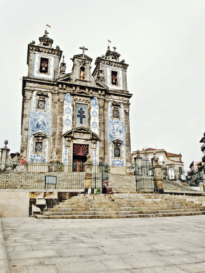 Oporto, Portugal Ancient Civilization Architectural Column Architecture Belief Building Building Exterior Built Structure City Clear Sky Day History Low Angle View Nature Outdoors Place Of Worship Religion Sky Spirituality The Past Tourism Travel Travel Destinations