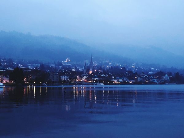 Zug Nigth Ligths Nigth  Cold darkness and light Evening Lights In The Dark City Lights Town Lake Night Sea City Illuminated No People Beach Sky Outdoors Water Cityscape Urban Skyline Travel Destinations Architecture Nature