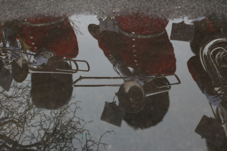 Close-up of reflection in water