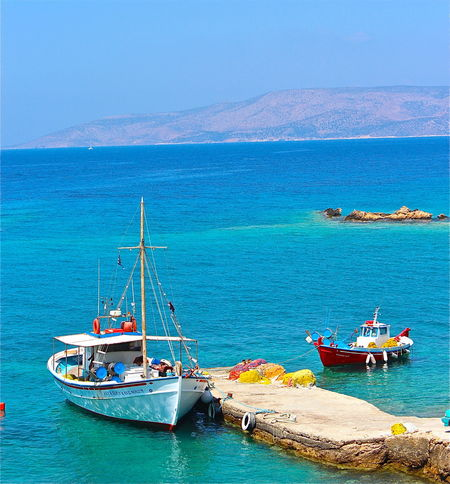 Aegean Islands Aegean Sea Beauty Blue Boat Boats And Water Boats⛵️ Europe Greece GREECE ♥♥ Koufonisia Sky Travel Travel Destinations Turquoise Water