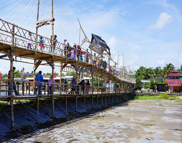 People crossing the bridge to enter Mangrove Forest #architecture #beautiful #bridge #built Structur #day #forest#tree#nature#love#cold#photography#girl#blue#eyes#smile#happy #indonesiatourism #Jembatan Api A #Jogjakarta, #large Group Of Peop #Mangrove Fores #MobileSky #Nature  #Neighborhood Map #sunset #sun #clouds #skylovers #sky #nature #beautifulinnature #naturalbeauty #photography #landscape #tourism #tourist Attraction #travel Destination #travelling #travelphotography #Women Nautical Vessel People Real People Women